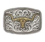 Buckle Montana Antiqued 2 Tone Longhorn