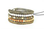 JK Bracelet - 5 Row Wrap Brown