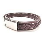 JK Bracelet - Brown Leather Braid