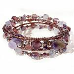 JK Bracelet - Crystal Memory Purple
