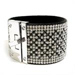 JK Bracelet - Cuff Cross Black