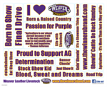 Weaver Livestock Sticker Sheet